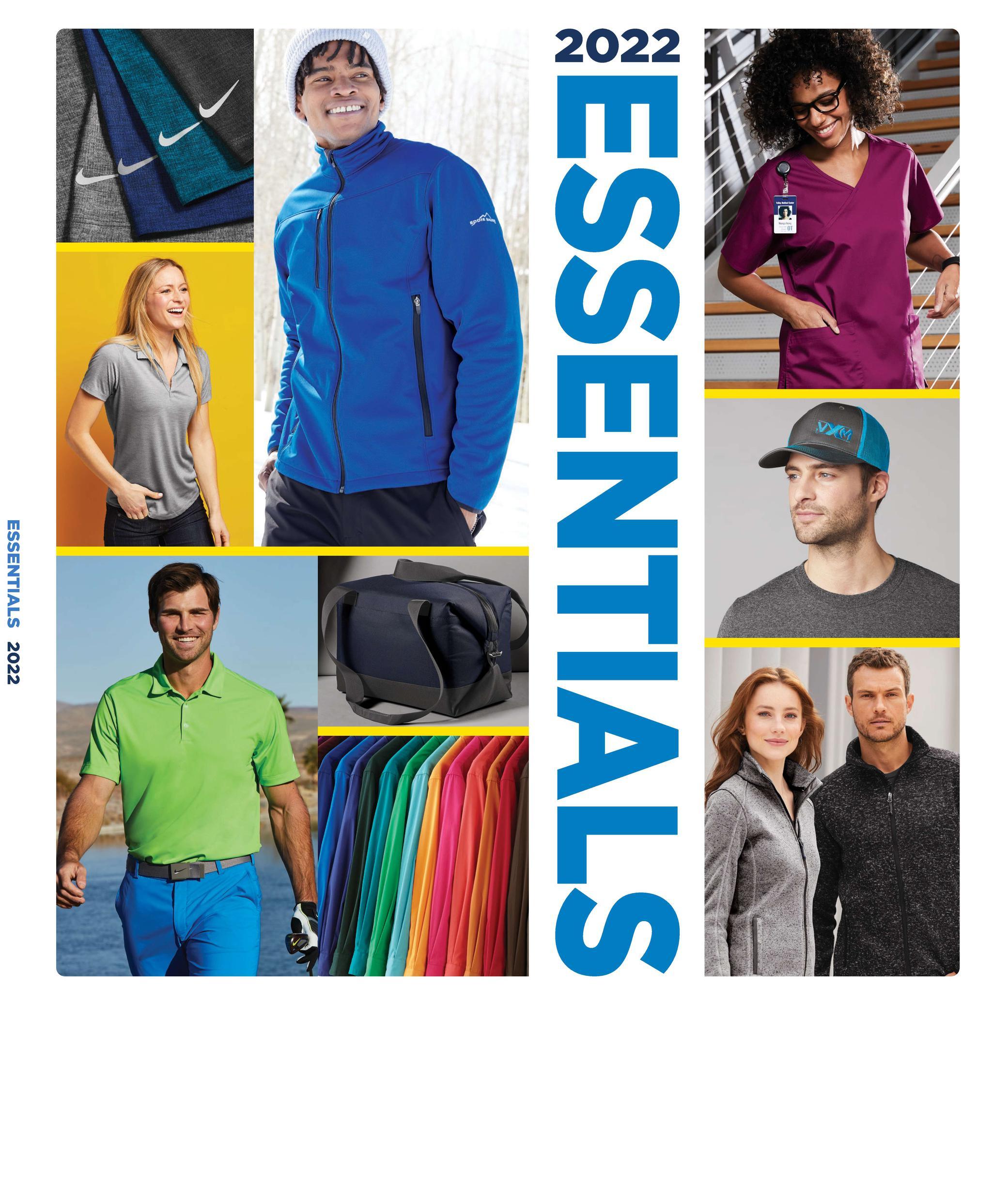 2022 Apparel Essentials catalog